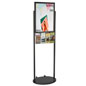 Black 18 x 24 Mobile Poster Stand with 4 Brochure Pockets and Poster Backing