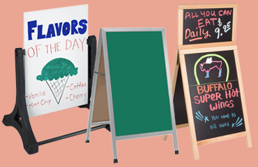 write-on chalk and marker boards