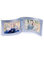 4x6 Silver Double Picture Holder