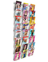 8-Tier Wall Magazine Rack