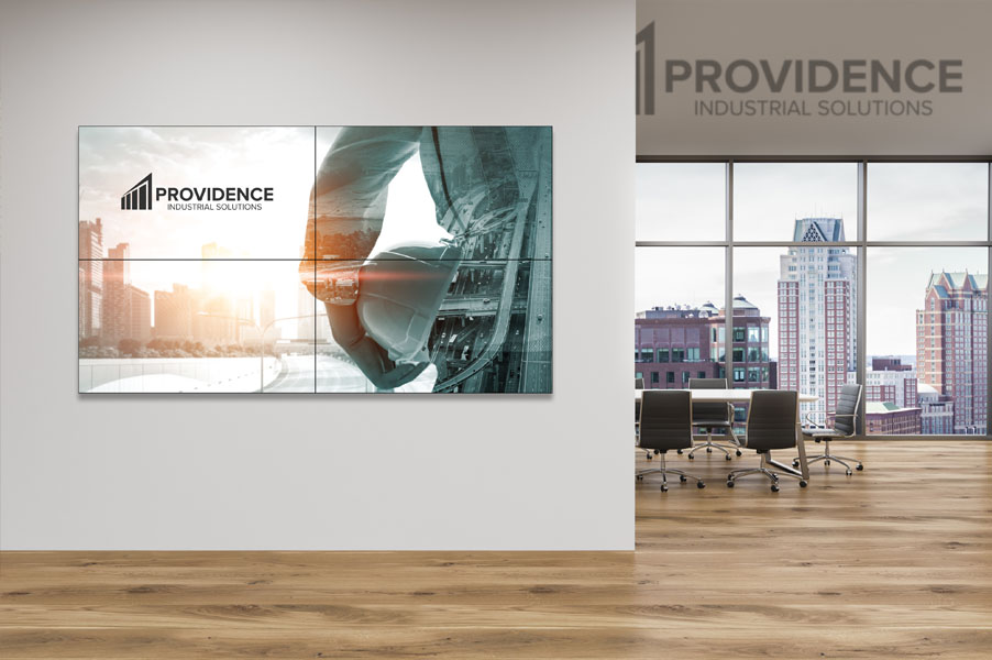 2x2 Video Wall Configuration for Corporate Office