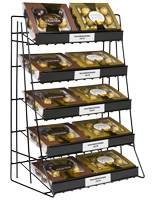 5 Tier Wire Countertop Rack for Retail Stores