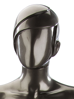 Abstract mannequin with stylized heads