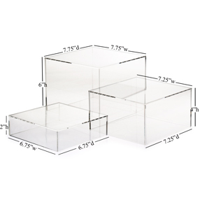 2 Way Acrylic Boxes Are Hollow Risers For Retail Storage Or Display