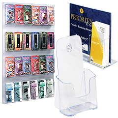 Acrylic brochure holders for wall & countertop