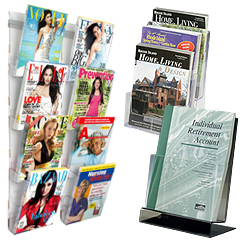 Wall and Counterop Magazine Racks