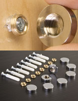 chrome screw covers