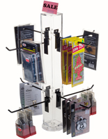 "8"" Hook Black Counter Spinner Rack"
