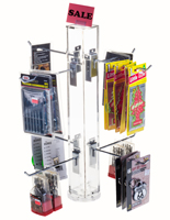 "8"" Hook Silver Counter Spinner Rack"