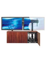 dual mount TV stand