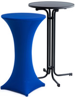 cocktail table with blue cover