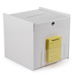 Locking White Ballot Box