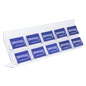 Acrylic Business Card Stand with Open Pockets
