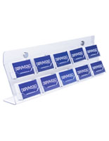Acrylic Business Card Wall Rack with Hardware Kit