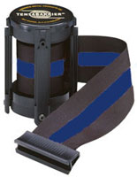 Black W/ Blue Stripe 7 1/2' Replacement Belt For Tensabarrier Stanchions