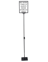 "8.5"" x 11"" Vertical Sign Stand with Extending Pole"
