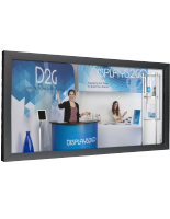 8' x 12' Black Banner Stretching Frame for Large Format Prints