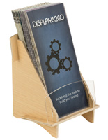 Tabletop Knock Down Wood Brochure Holder