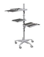 Height Adjustable Mobile Workstation with Wheels
