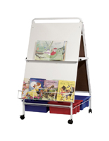 Portable Folding Wheasel with Book Rack