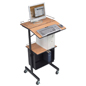 Laptop Presentation Stand with Open Face Cabinet