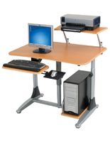 Adjustable Height Standing Desk for Right or Left Handed Users