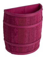 Magenta Barrel Display with Oak Bands