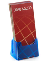 "4"" Wide Blue Plastic Brochure Holder"