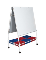 Double-Sided Mobile Lap Board Easel
