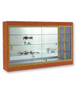 wall mounted display cases full vision hanging store cabinets. Black Bedroom Furniture Sets. Home Design Ideas