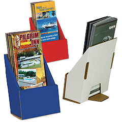 Cardboard countertop brochure pockets