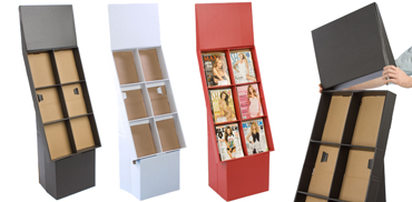 Floor standing magazine rack freestanding periodical holders for How to make a magazine holder from cardboard