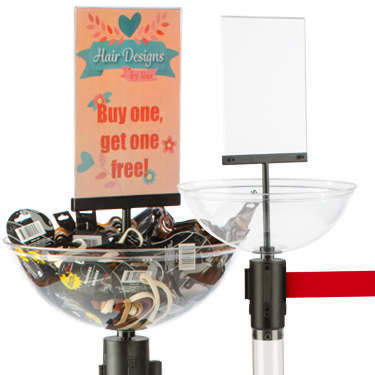 clear accessories for stanchions