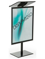 Floor Standing Black Economy Podium with Poster Frame