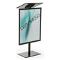 "44""h Black Economy Podium with Poster Frame"