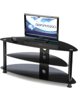 Glass Corner TV Stand