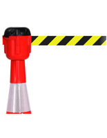 Cone-Mounted Retractable Belt Barrier, 15' Strap
