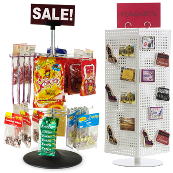Counter displays for selling smalls at checkout