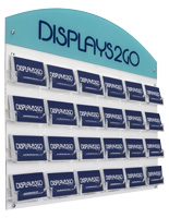 Business Card Rack with Custom Header for Reception Areas