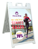 Sidewalk Sign with Printed Boards, Double Sided
