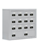 Cell Phone Storage Cabinet with Resettable Combination Locks