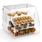 clear acrylic food case for a bake shop