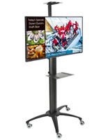 Mobile Digital Signage Stand, Wheeled