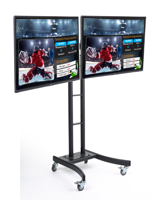 (2) TV Dual Electronic Poster Stand