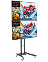 Dual Digital Sign Stand, Supports Various Media Types