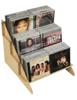 Countertop Wood CD/DVD Stand