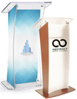 lecterns with custom printing