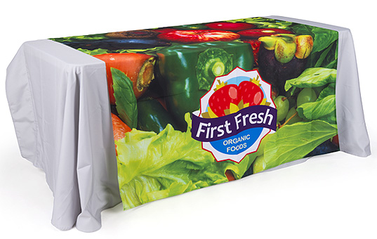 60-inch wide table runners add another design element to standard table coverings and drapes