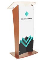 Customized Public Speaking Lectern with Branding