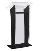 Black Public Speaking Stand
